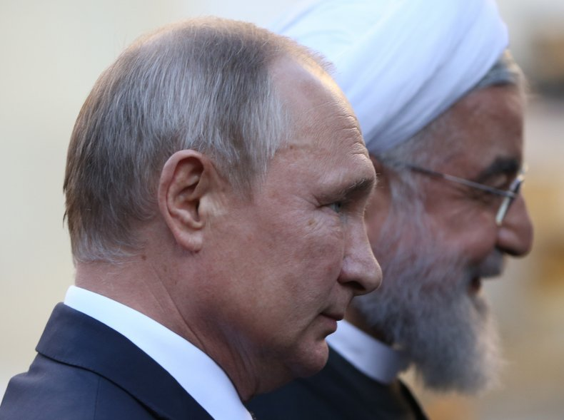 russia putin iran rouhani meeting armenia