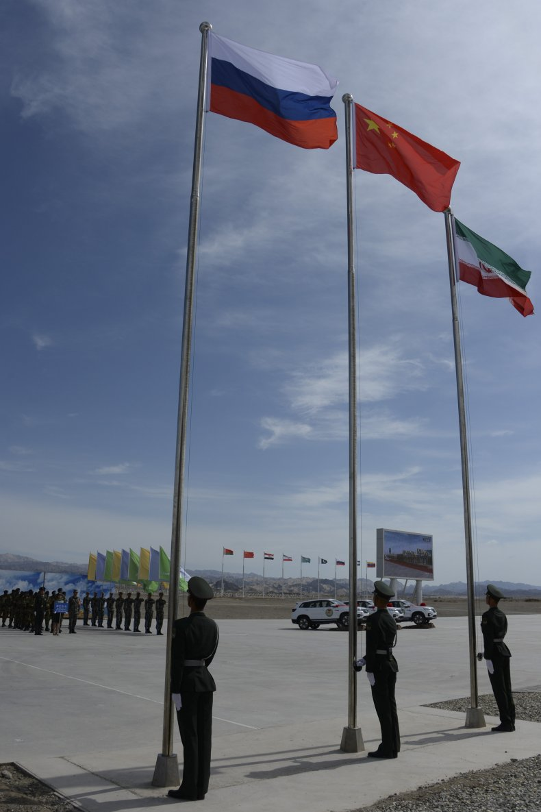 russia china iran flags army games