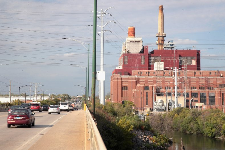 Crawford coal power plant in Chicago