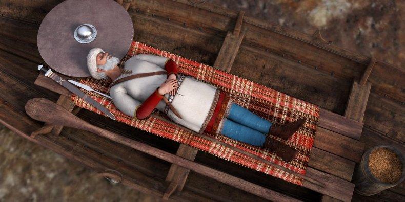 Viking burial
