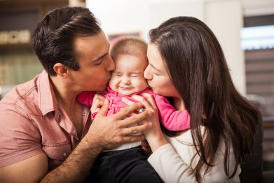 baby, parents, infant, mom, dad, stock, getty