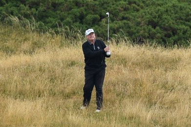 donald trump, golf