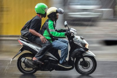 Motorcycle taxi Indonesia