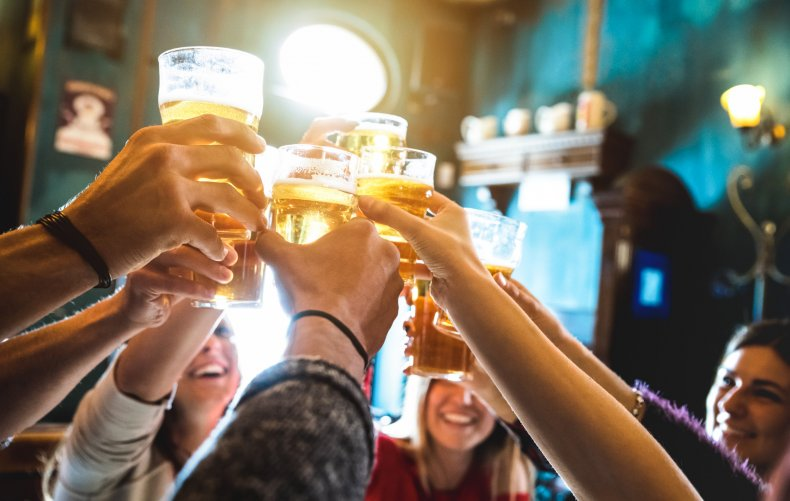 alcohol, beer, friends, celebrate, stock, getty