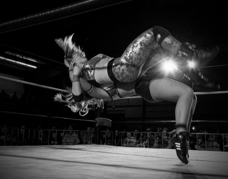 Kelly Klein in the ring
