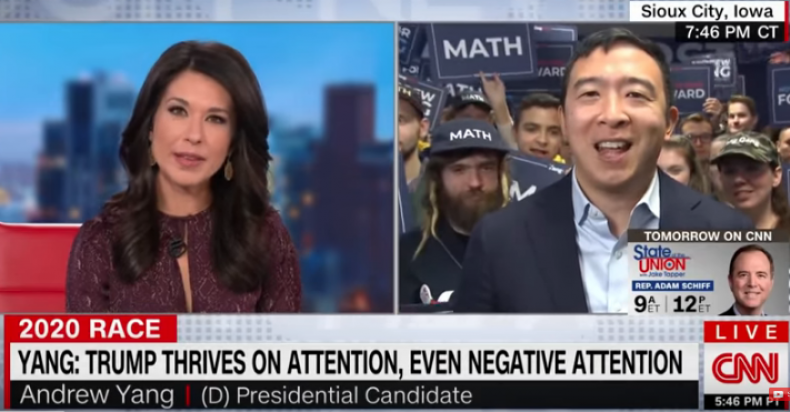 andrew yang msnbc media blackout