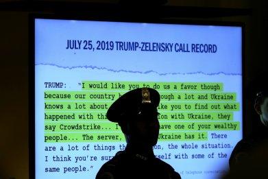 Trump-Zelensky call transcript