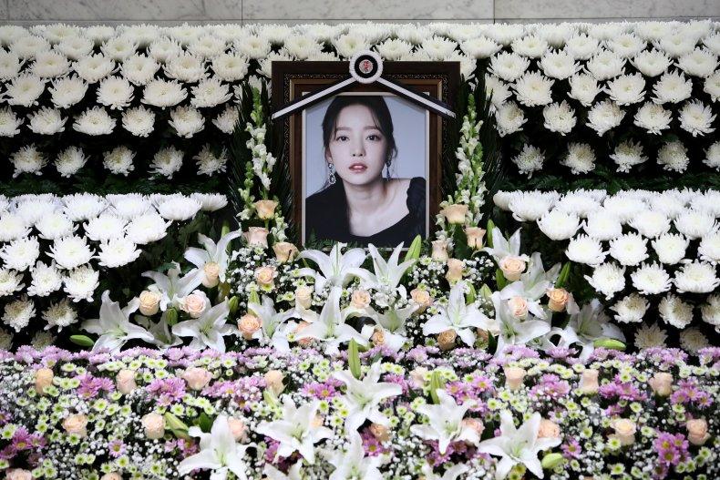 K-pop Goo Hara Fan Memorial Seoul Hospitial