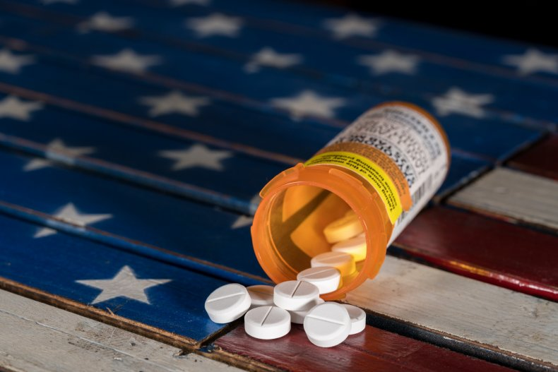 american flag, opiods, drugs, stock, getty