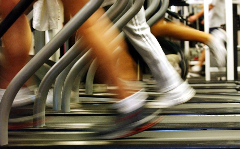 gym treadmill running