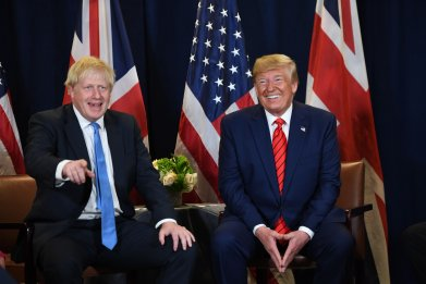 Donald Trump, Boris Johnson, UK, US, trade