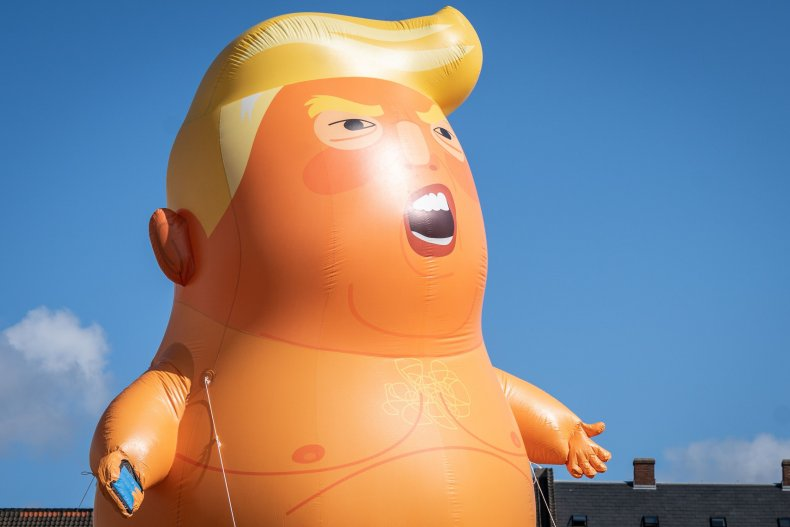 Trump baby balloon protesters