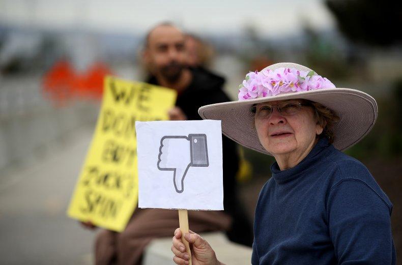 Facebook protester