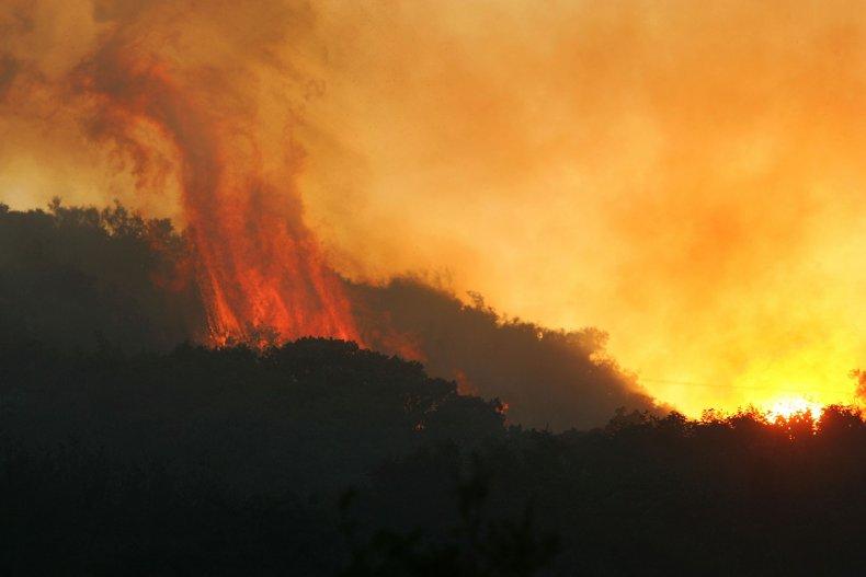 Gap Fire Santa Barbara California 2008