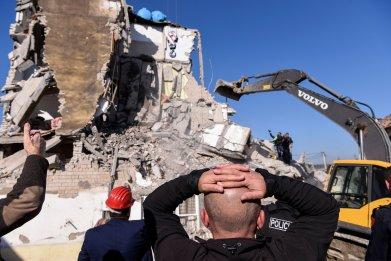 TOPSHOT-ALBANIA-EARTHQUAKE