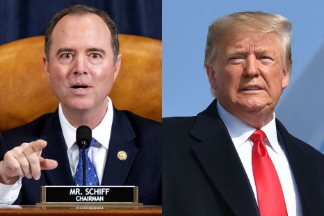 Adam Schiff and Donald Trump