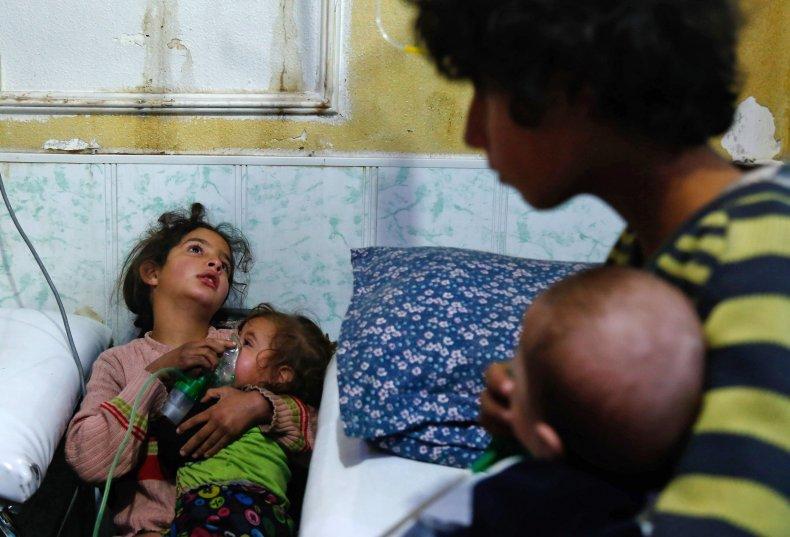 Douma attack children