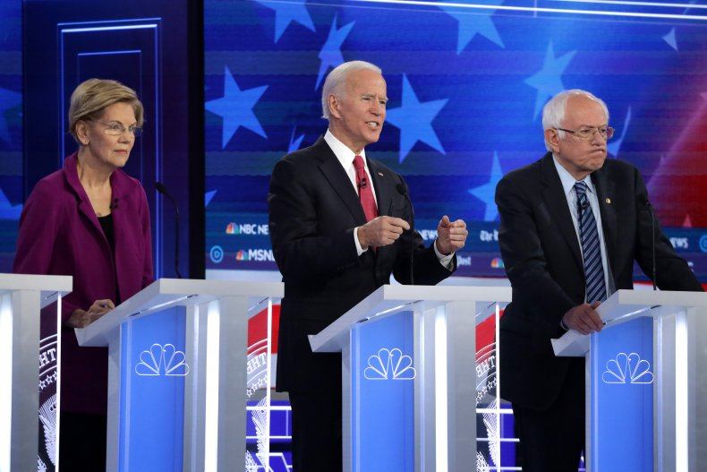 Elizabeth Warren, Joe Biden, Bernie Sanders