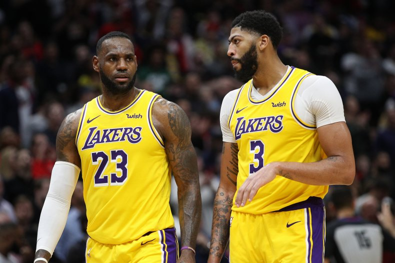 Anthony Davis, LeBron James, Los Angeles Lakers