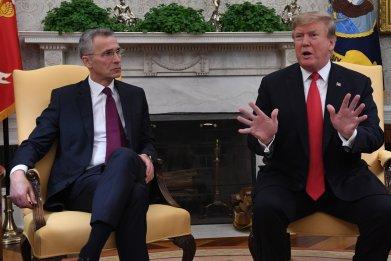 Donald Trump, NATO, funding, cut, Russia, Putin