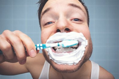 teeth, brushing teeth, dentist, health, stock, getty
