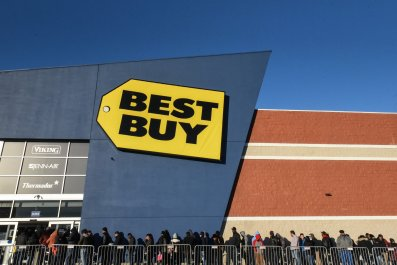 Best Buy Black Friday shoppers New York