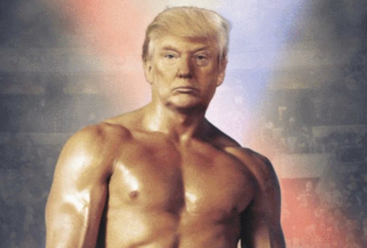 "Donald Trump campaign disputes claim that photo of president as Rocky Balboa was ""doctored"""