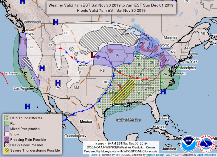 Major Storm Threatens Busiest Travel Weekend of the Year