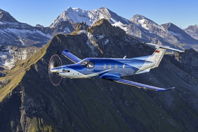 Pilatus PC-12 single-engine plane