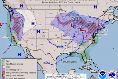 Weather Map Dec 1 2019