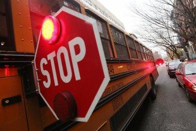 Yellow school bus New York City