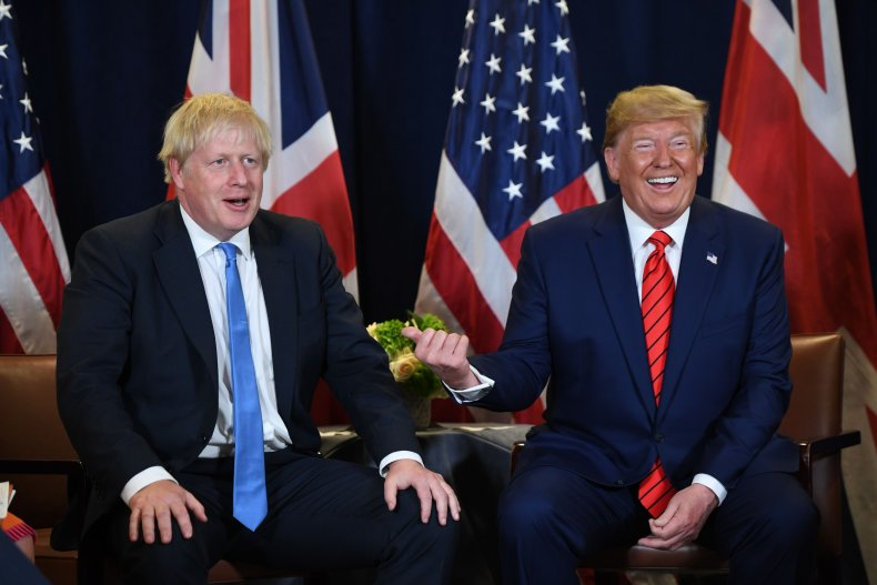 Donald Trump, Boris Johnson, UK, US, NATO