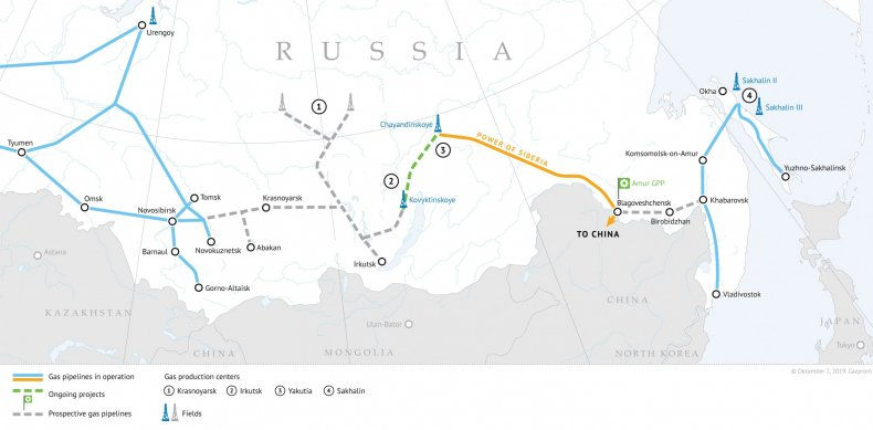 russia china gas pipeline map