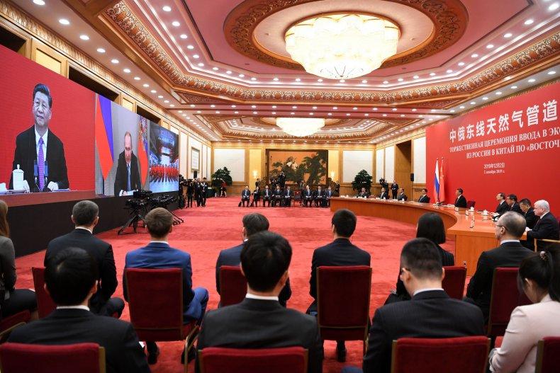 china xi russia putin beijing video
