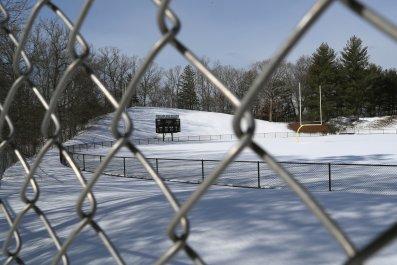 Newtown High School Sandy Hook Connecticut snow