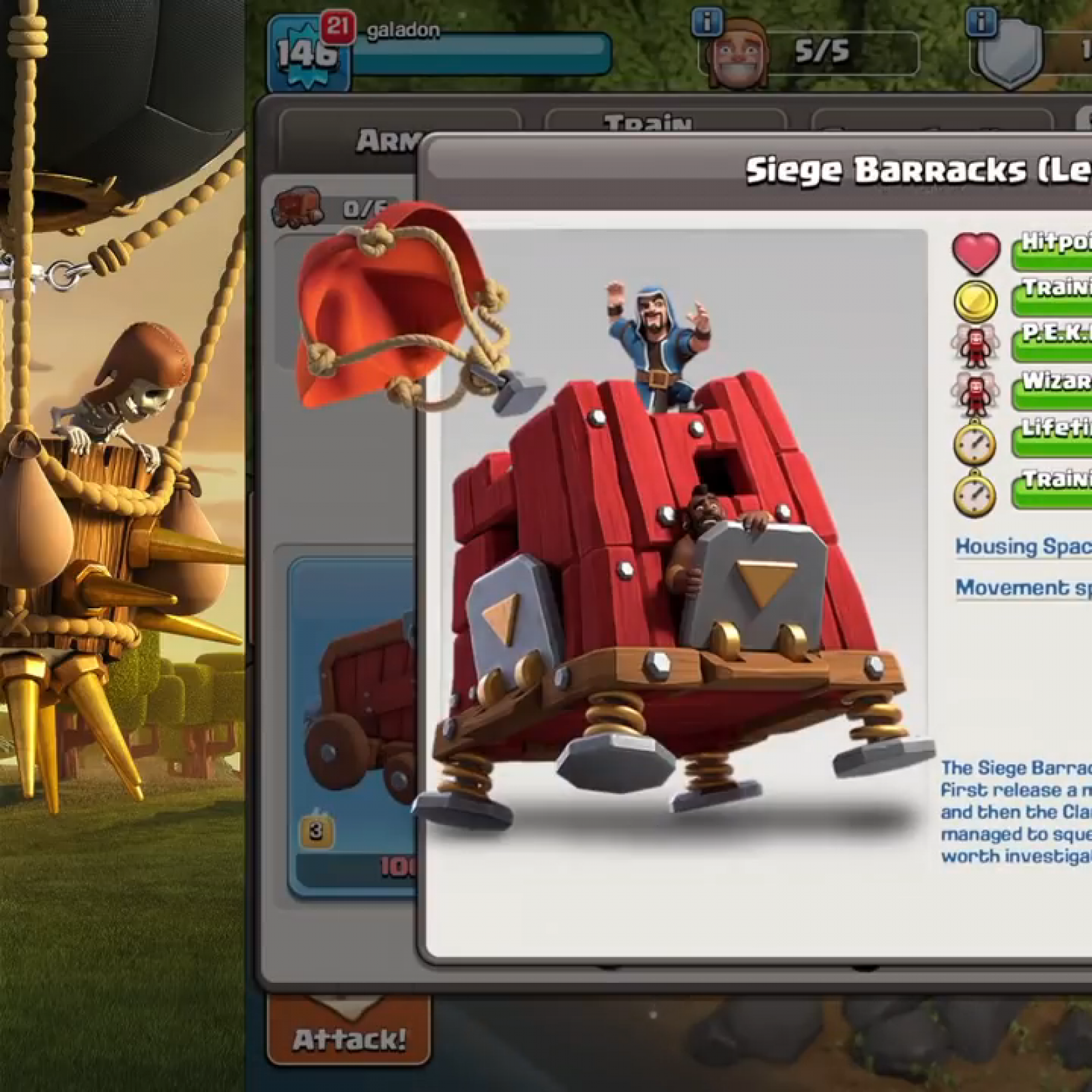 Clash Of Clans Siege Barracks Revealed In Th13 December