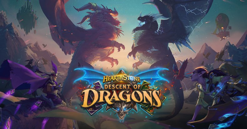 hearthstone descent of dragons live stream
