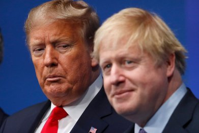 Donald Trump, Boris Johnson, NATO, UK, election