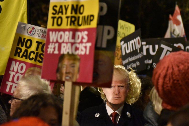 Donald Trump, Boris Johnson, NATO, protests, election