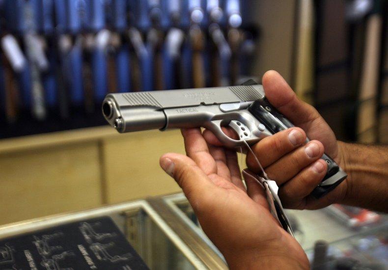 handgun, gun store
