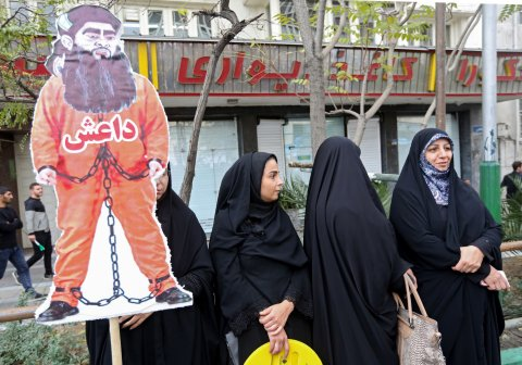 iran protest isis daesh tehran embassy