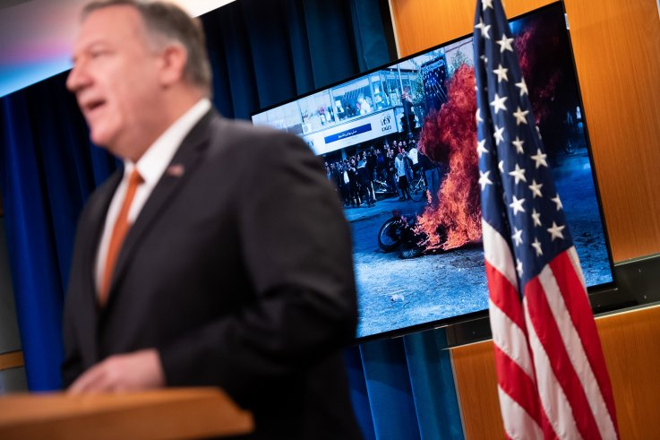 us, iran, protests, mike, pompeo
