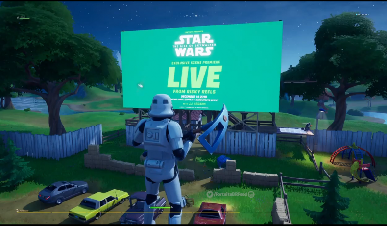 fortnite star wars rise skywalker event screen