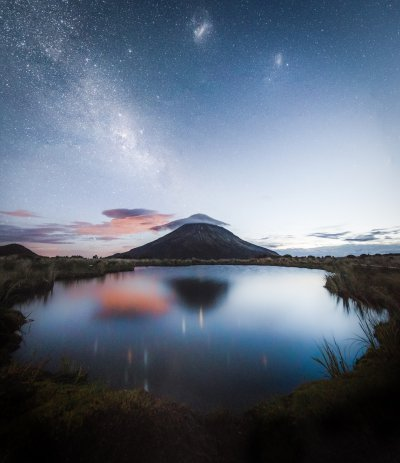 Volcano milky way