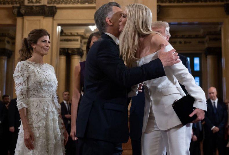 Mauricio Macri and Ivanka Trump