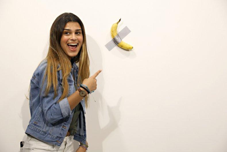 Maurizio Cattelan Comedian banana