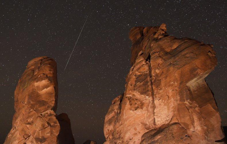 Geminid meteor shower, Nevada