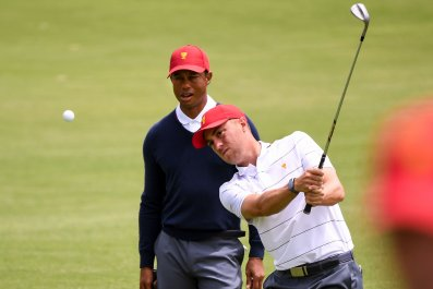 Tiger Woods, Justin Thomas, Presidents Cup