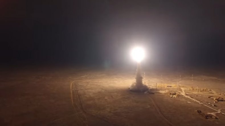 russia icbm missile test launch
