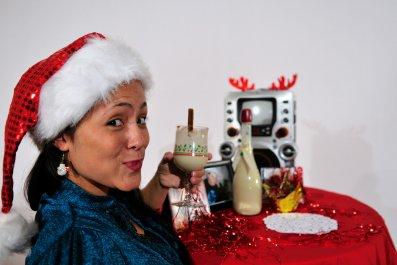 Coquito puerto rico eggnog christmas drink